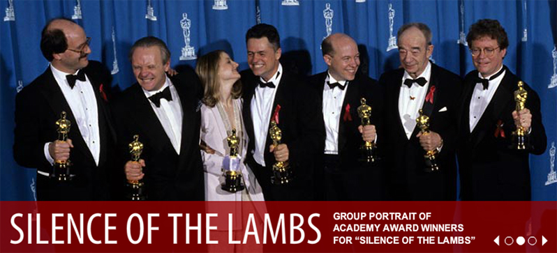 Ted Tally, far left beside Anthony Hopkins